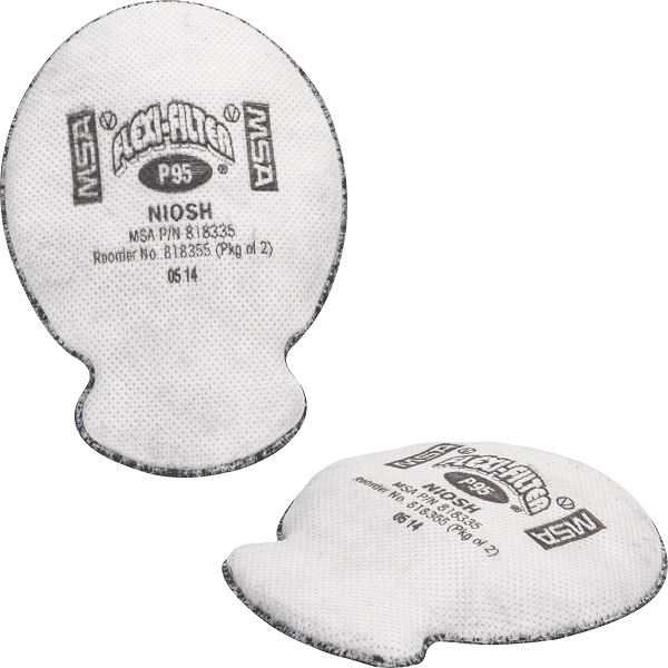 Proteção vo Msa Cabeça P95 Flexi-filter p2 818355 Filtro Cenci