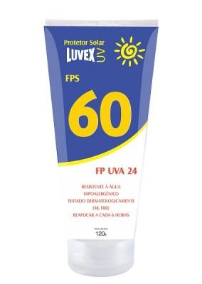 3556 - CREME LUVEX FPS 60 UVA 24  BISNAGA 120G