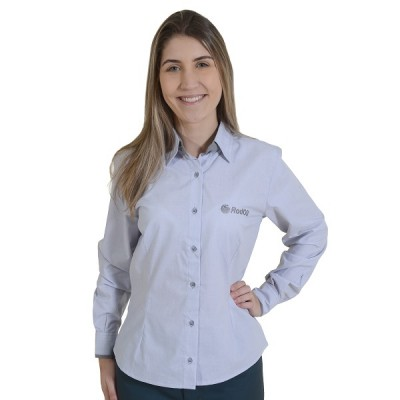 6523 - ROD OIL - CAMISETE SOCIAL FEMININA ML
