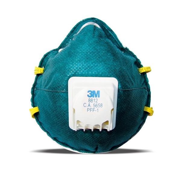 Respirador 3m 8812 Verde Valvulado Pff1