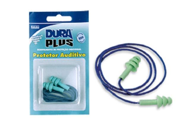 Abafador Plug Dura Plus C/ Cordao Em Algodao