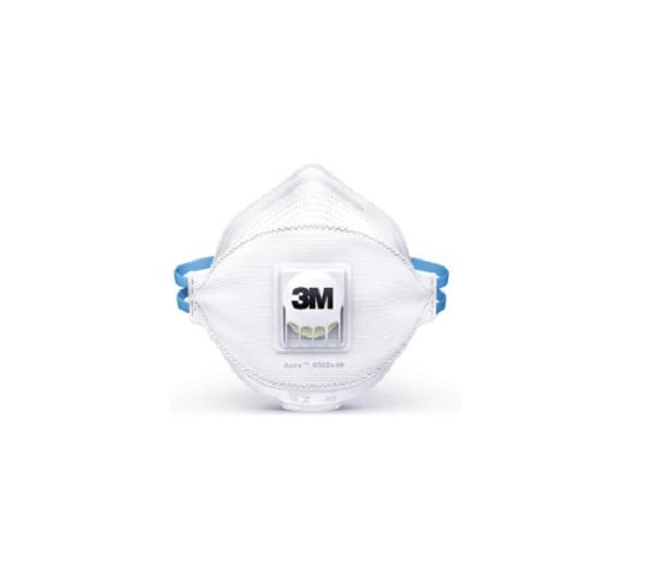 Respirador 3m 9332  Aura Desc Valvulado Pff3 Azul