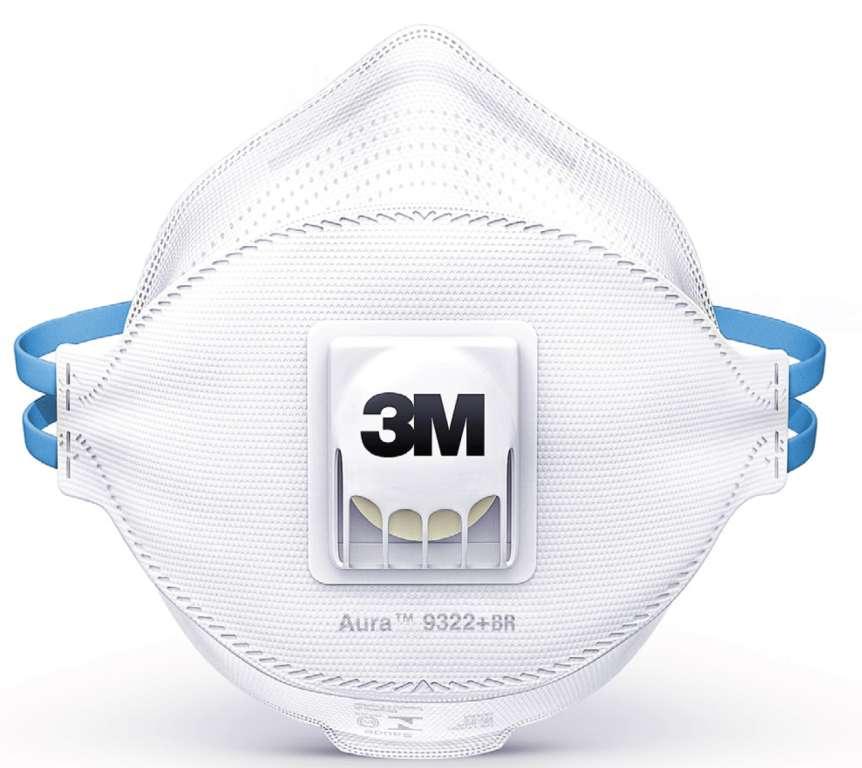 Respirador 3m 9322  Br Aura Desc Valvulado Pff2