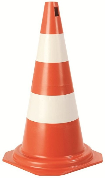 Cone Plastcor  Lj/br 75cm Pvc Rigido