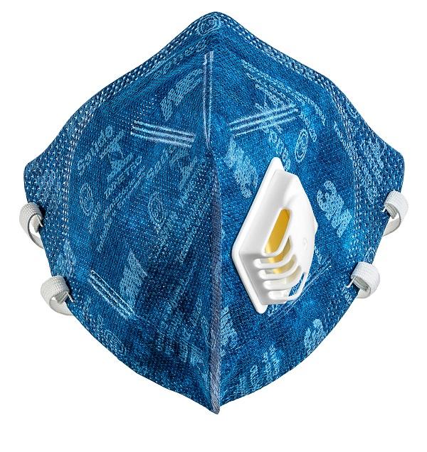 Respirador 3m 9822 Br Azul Valvulado  Pff2