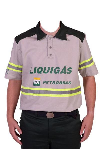 Camisa Gola Polo Mc Liquigas  Unipolo 5089 Cinza Mod 7013xx